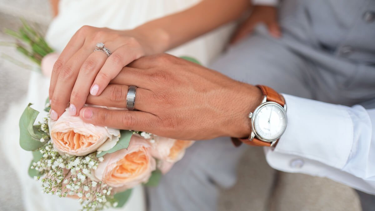 Lyckönskningar på bröllop